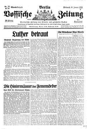 Vossische Zeitung vom 13.01.1926