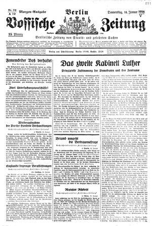 Vossische Zeitung vom 14.01.1926