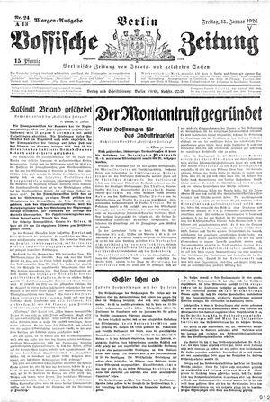 Vossische Zeitung vom 15.01.1926