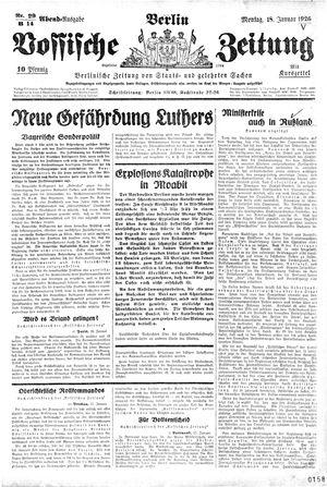 Vossische Zeitung vom 18.01.1926