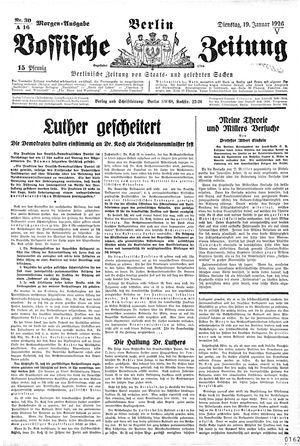 Vossische Zeitung vom 19.01.1926