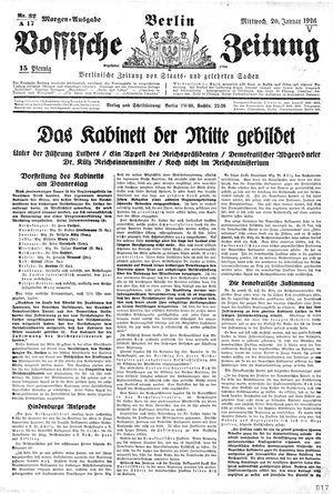 Vossische Zeitung vom 20.01.1926