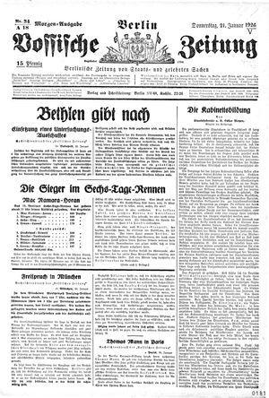 Vossische Zeitung vom 21.01.1926