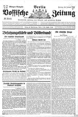Vossische Zeitung vom 22.01.1926