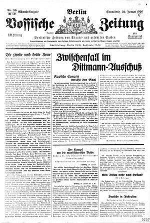 Vossische Zeitung vom 23.01.1926