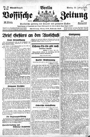 Vossische Zeitung vom 25.01.1926
