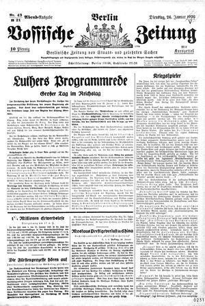 Vossische Zeitung vom 26.01.1926