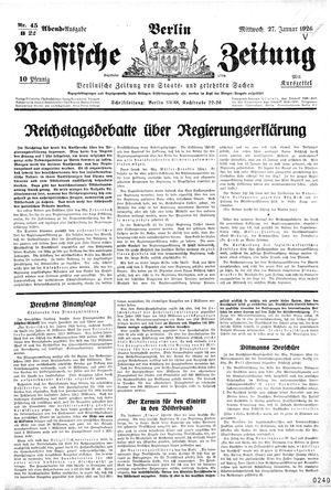 Vossische Zeitung vom 27.01.1926