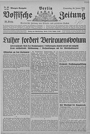 Vossische Zeitung vom 28.01.1926