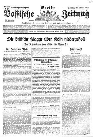 Vossische Zeitung on Jan 31, 1926