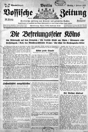Vossische Zeitung vom 01.02.1926
