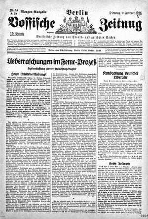 Vossische Zeitung vom 02.02.1926