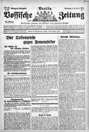 Vossische Zeitung vom 03.02.1926