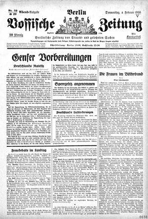 Vossische Zeitung vom 04.02.1926