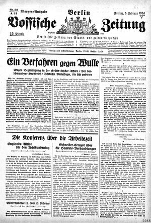 Vossische Zeitung on Feb 5, 1926