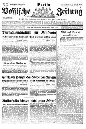 Vossische Zeitung on Feb 6, 1926