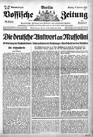 Vossische Zeitung vom 08.02.1926
