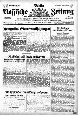 Vossische Zeitung vom 10.02.1926