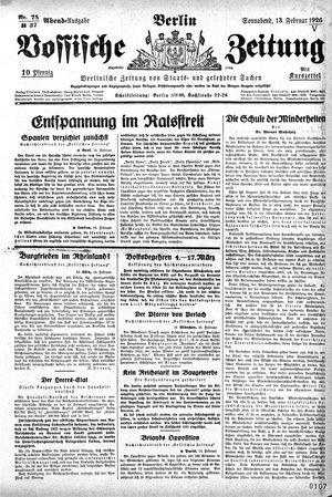 Vossische Zeitung vom 13.02.1926