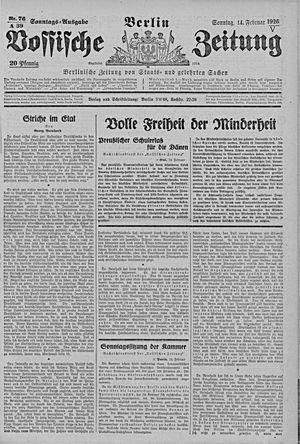 Vossische Zeitung vom 14.02.1926