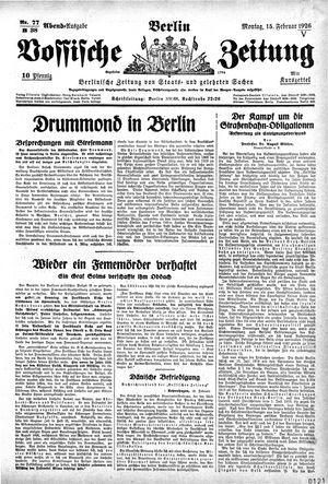 Vossische Zeitung vom 15.02.1926