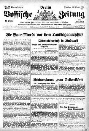 Vossische Zeitung vom 16.02.1926