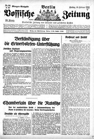 Vossische Zeitung vom 19.02.1926