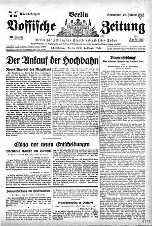 Vossische Zeitung vom 20.02.1926
