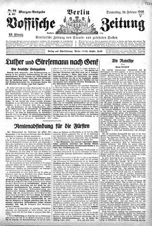 Vossische Zeitung vom 25.02.1926