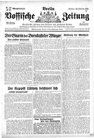 Vossische Zeitung vom 26.02.1926