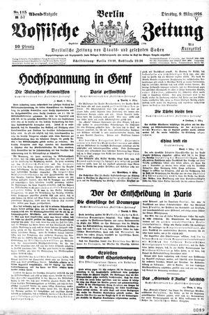 Vossische Zeitung vom 09.03.1926