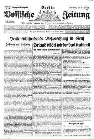 Vossische Zeitung vom 10.03.1926