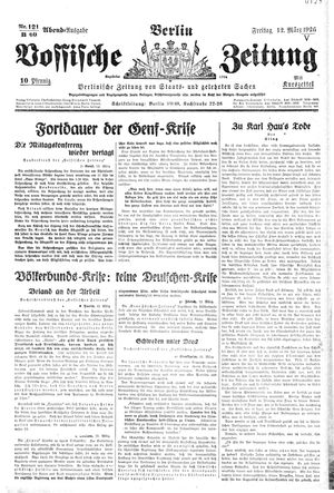 Vossische Zeitung vom 12.03.1926