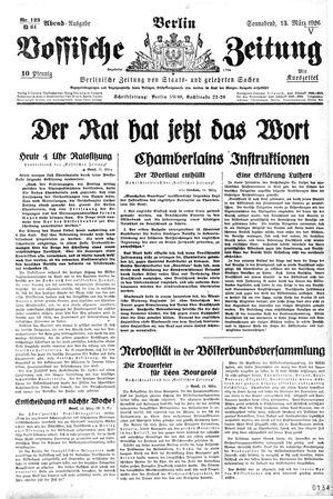 Vossische Zeitung vom 13.03.1926