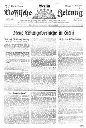 Vossische Zeitung vom 15.03.1926