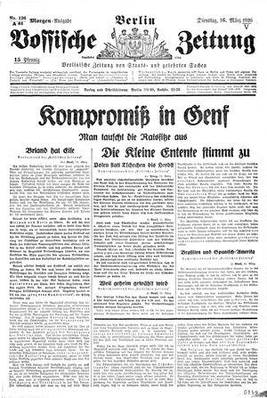 Vossische Zeitung on Mar 16, 1926