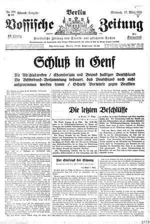 Vossische Zeitung vom 17.03.1926