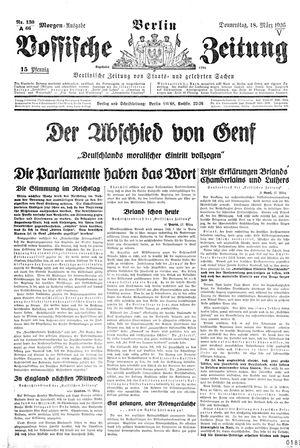 Vossische Zeitung on Mar 18, 1926