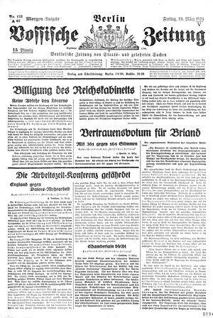 Vossische Zeitung vom 19.03.1926