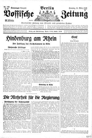 Vossische Zeitung vom 21.03.1926