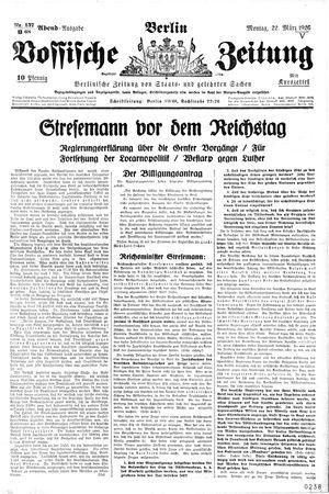 Vossische Zeitung vom 22.03.1926