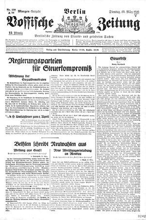 Vossische Zeitung vom 23.03.1926