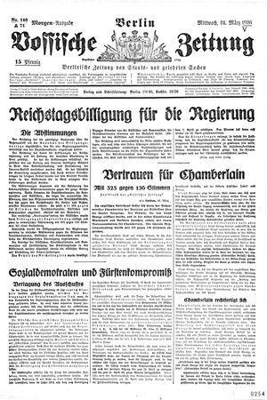 Vossische Zeitung vom 24.03.1926