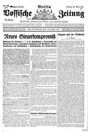 Vossische Zeitung vom 26.03.1926