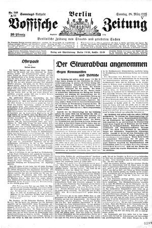Vossische Zeitung vom 28.03.1926