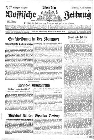 Vossische Zeitung vom 31.03.1926