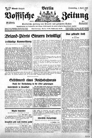 Vossische Zeitung vom 01.04.1926
