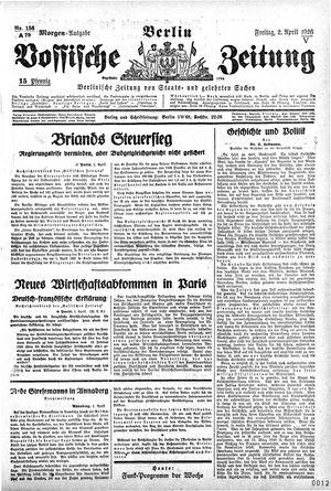 Vossische Zeitung vom 02.04.1926