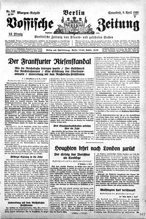 Vossische Zeitung on Apr 3, 1926