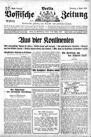 Vossische Zeitung vom 04.04.1926